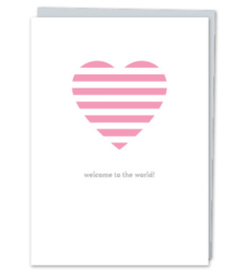 "Design with Heart Studio - Greeting Cards ""Welcome to the world!"""