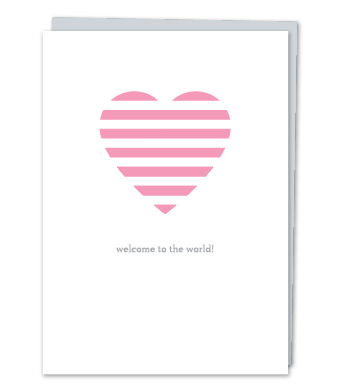"Design with Heart Studio - Greeting Cards - ""Welcome to the world!"""