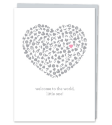 "Design with Heart Studio - Greeting Cards ""Welcome to the world, little one!"""