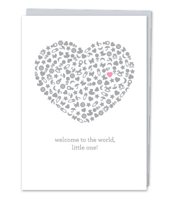 "Design with Heart Studio - Greeting Cards - ""Welcome to the world, little one!"""