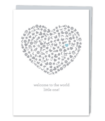 """Design with Heart Studio - Greeting Cards - """"Welcome to the world, little one!"""""""