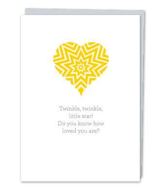 "Design with Heart Studio - Greeting Cards - ""Twinkle, twinkle, little star!"""