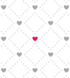 Design with Heart Studio - Giftwrap - Diamonds & Hearts Giftwrap