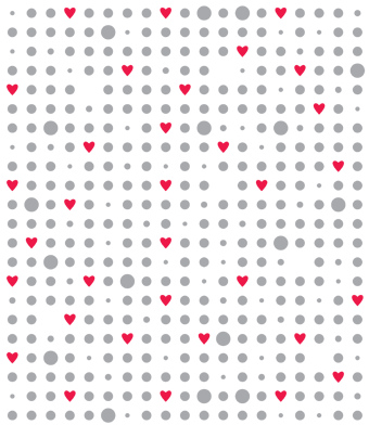Design with Heart Studio - Giftwrap - Dots & Hearts Giftwrap