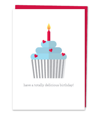 "Design with Heart Studio - Greeting Cards - ""Have a totally delicious birthday!"""