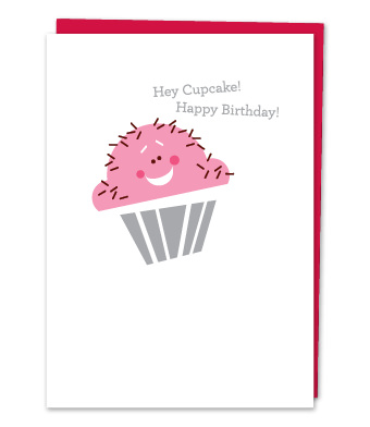 "Design with Heart Studio - Greeting Cards - ""Hey Cupcake, Happy Birthday!"""
