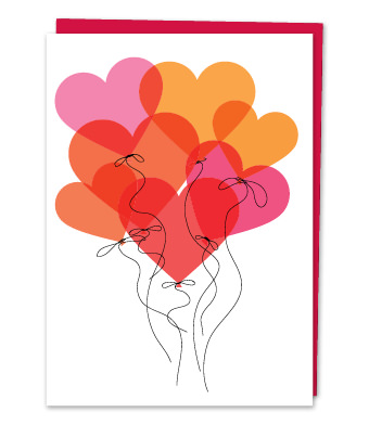 Design with Heart Studio - Greeting Cards - Birthday Heart Balloons
