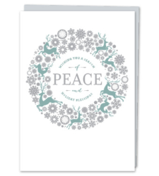 "Design with Heart Studio - Holiday - ""Wishing you a season of peace and Holiday blessings"""