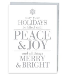 "Design with Heart Studio - Holiday - ""May your Holidays be filled with Peace & Joy"""