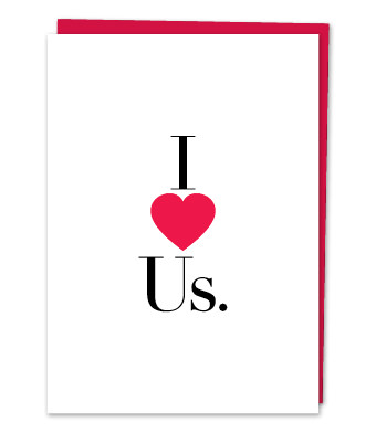 Design with Heart Studio - Greeting Cards - I LOVE US