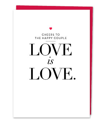 "Design with Heart Studio - Greeting Cards - ""Love is Love"""