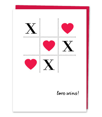"Design with Heart Studio - Greeting Cards - ""Love wins"""