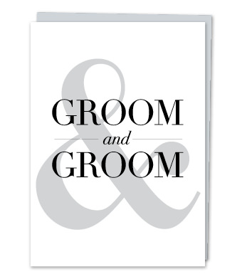 "Design with Heart Studio - Greeting Cards - ""Groom & Groom"""