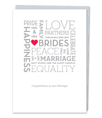 "Design with Heart Studio - Greeting Cards - ""Brides"" – Word Cloud"