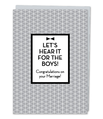 "Design with Heart Studio - Greeting Cards - ""Let's hear it for the boys!"""