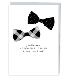 Design with Heart Studio - Greeting Cards Gentlemen, Congratulations On Tying The Knot.