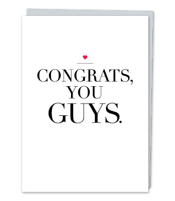 "Design with Heart Studio - Greeting Cards - ""Congrats, you guys!"""
