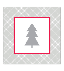 Design with Heart Studio - Holiday - Plaid Holiday Tree Gift Tag