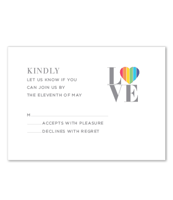 Design with Heart Studio - Boxed Sets - Rainbow LOVE Wedding Suite