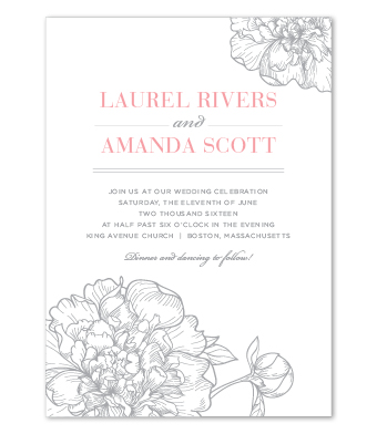Design with Heart Studio - Boxed Sets - Silver Peony Wedding Suite