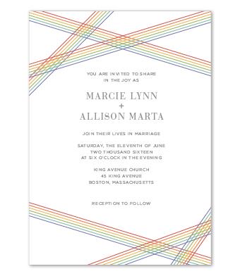 Design with Heart Studio - Boxed Sets - Rainbow Stripe Wedding Suite