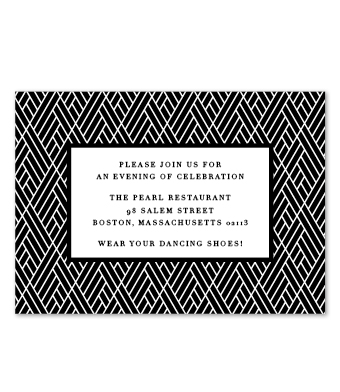 Design with Heart Studio - Boxed Sets - Black Geometric Wedding Suite