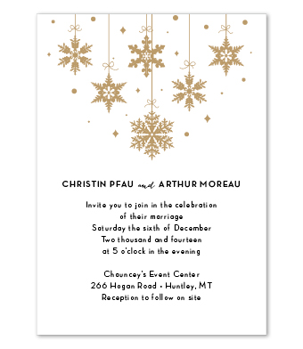 Design with Heart Studio - Boxed Sets - Gold Snowflake Wedding Suite