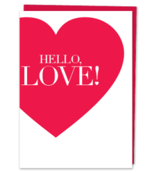 Design with Heart Studio - Greeting Cards HELLO, LOVE!