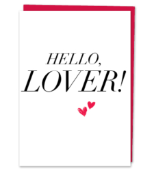 Design with Heart Studio - Greeting Cards HELLO, LOVER!