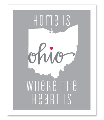 "Design with Heart Studio - Art Prints - ""Home Is Where The Heart Is"""
