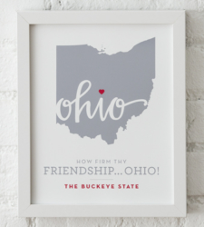 Design with Heart Studio - Art Prints How Firm Thy Friendship Framed Print