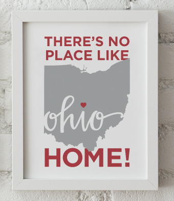 Design with Heart Studio - Art Prints - There's No Place Like Home Framed Print