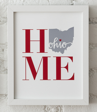 Design with Heart Studio - Art Prints - HOME Framed Print