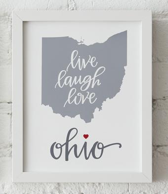 Design with Heart Studio - Art Prints - Live Love Laugh Framed Print