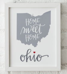Design with Heart Studio - Art Prints Home Sweet Home Framed Print
