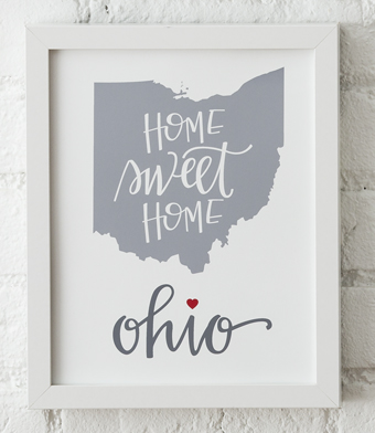 Design with Heart Studio - Art Prints - Home Sweet Home Framed Print