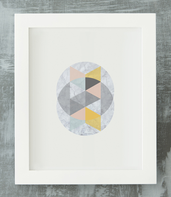 Design with Heart Studio - Art Prints - Framed Marble Intersecting Circles #2 Art Print