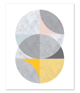 Design with Heart Studio - Art Prints - Marble Intersecting Circles Art Print