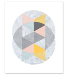 Design with Heart Studio - Art Prints Marble Intersecting Circles #2 Art Print