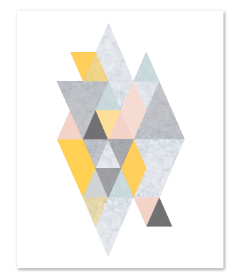 Design with Heart Studio - Art Prints - Geometric Marble Art Print