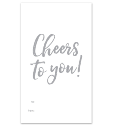"""Design with Heart Studio - Wine Bottle Gift Tags - """"Cheers to you!"""""""
