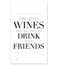 """Design with Heart Studio - Wine Bottle Gift Tags - """"The Best Wines"""""""