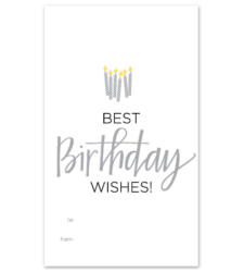 """Design with Heart Studio - Wine Bottle Gift Tags - """"Best Birthday Wishes!"""""""