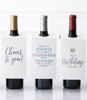 "Design with Heart Studio - Wine Bottle Gift Tags - ""Cheers to you!"""
