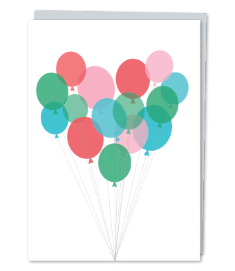 Design with Heart Studio - Greeting Cards - Pastel Silver String Balloons
