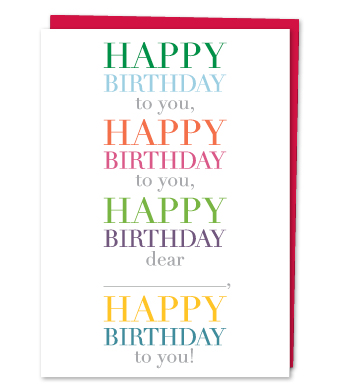 """Design with Heart Studio - Greeting Cards - """"Happy Birthday To You"""""""