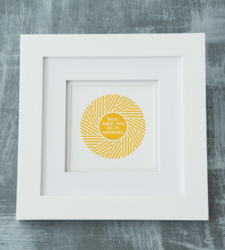 Design with Heart Studio - Art Prints You Are My Sunshine Framed Art Print