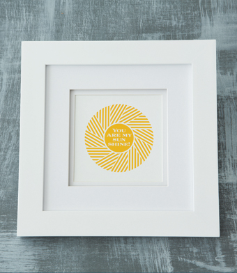 Design with Heart Studio - Art Prints - You Are My Sunshine Framed Art Print