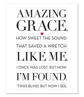 Design with Heart Studio - Art Prints - Amazing Grace Art Print