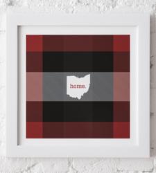 Design with Heart Studio - New - Framed Plaid Ohio Art Print